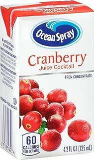 Ocean Spray Juice Drink, Cranberry Juice Cocktail, 4.2 Ounce Juice Box (Pack of 40)