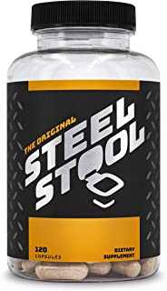 Sponsored Ad - Steel Stool Fiber Supplement for Men - All-Natural Psyllium Husk Fiber Blend - Improve Digestion & Regulari...