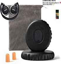 Upgrade Bose On-Ear 2 (OE2) Earpad Replacement Compatible with Bose OE2 Ear Pads OE2i SoundLink SoundTure Cushion Muffs(On Ear Headphones only), Black
