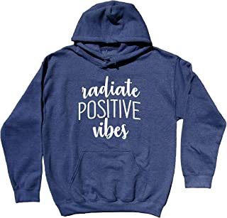 Radiate Positive Vibes Sweatshirt Yoga Good Vibes Hippie Hoodie