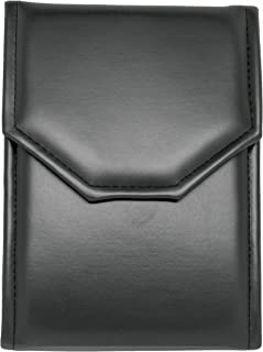 Novel Box Premium Large Black/Black Stitched Leatherette Pearl/Omega Necklace Folder + Custom NB Pouch