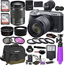 Canon EOS M6 Mark II Mirrorless Digital Camera (Silver) EVF-DC2 Viewfinder Kit with Canon EF-M 18-150mm is STM Lens + Cano...