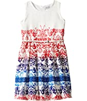 Us Angels - Jacquard Sleeveless Dress w/ Full Skirt (Big Kids)