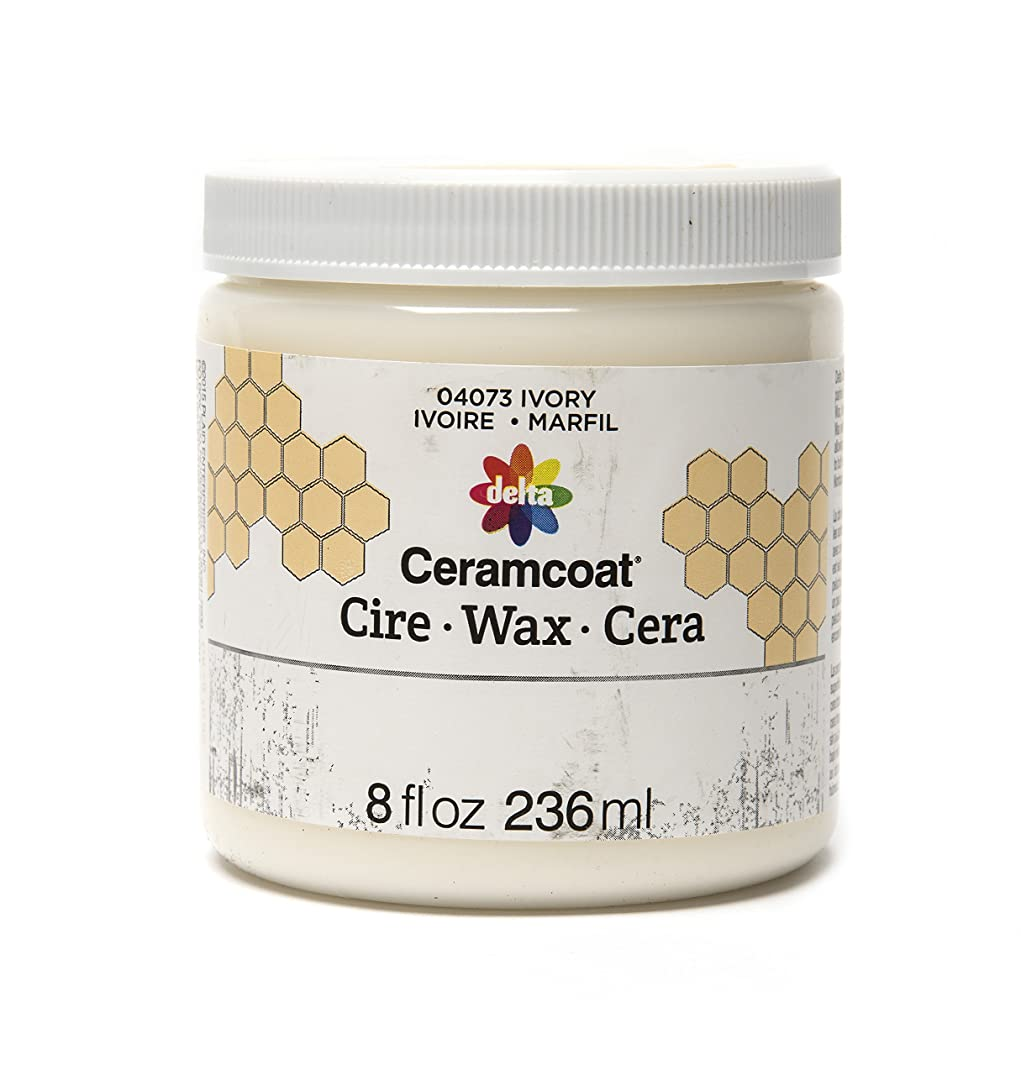 Delta Creative Ceramcoat Ultra Matte Chalk Furniture & Craft Paint Wax in Assorted Colors (8 Ounce), 04073 Ivory