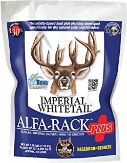 Whitetail Institute Alfa-Rack Plus Deer Food Plot Seed - Perennial Blend of Deep-Root Forages that Thrive on Hilltops and Hillsides - Highly Nutritious and Attractive to Deer