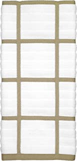 All Clad Textiles 100-Percent Cotton Checked Kitchen Towel, Cappuccino