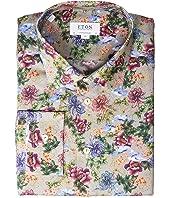 Eton - Contemporary Fit Floral Print Button Down Shirt