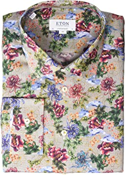 Contemporary Fit Floral Print Button Down Shirt