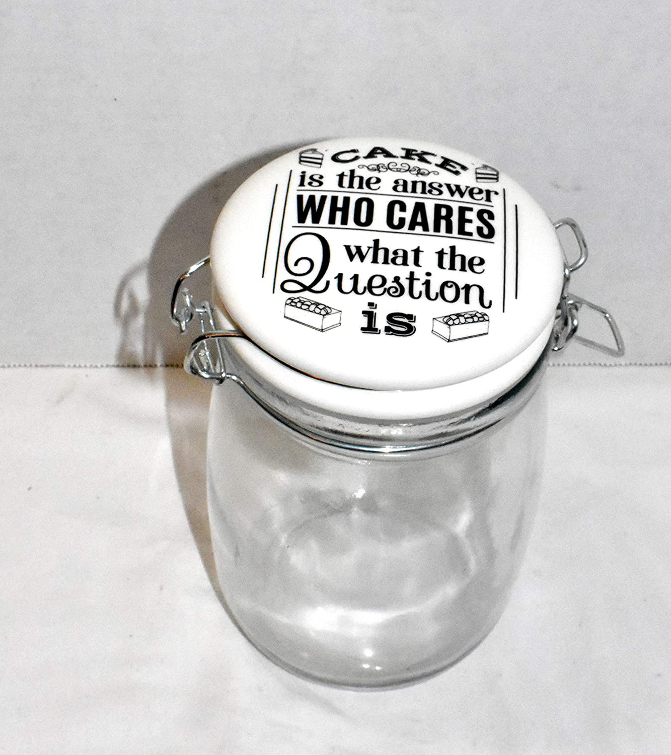 25 Home Decor New 34oz All items Shipping included in the store Cake is What WHO Answer Cares QUE The