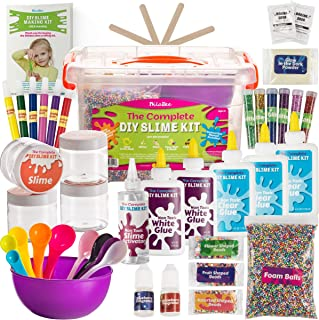 DilaBee - DIY Slime Making Kit - Super Jumbo Starter Set – Safety Tested & Certified! Non-Toxic Slime Accessories & Supplies for Girls and Boys – Instructions Included
