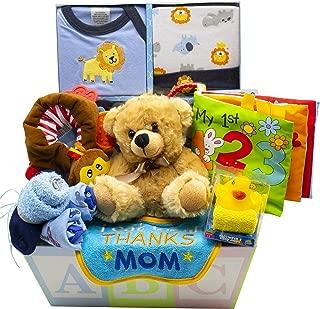 Sweet New Baby Gift Basket - Baby Boy & Baby Girl (Blue)