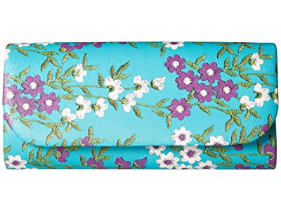 Adrianna Papell Katie (Turquoise Floral) Clutch Handbags