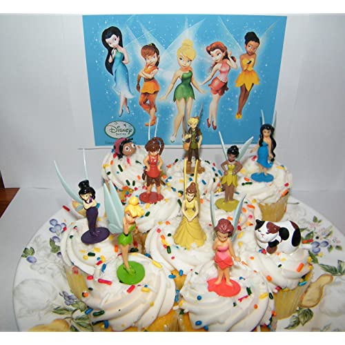 Pleasing Tinkerbell Cake Topper Amazon Com Personalised Birthday Cards Cominlily Jamesorg