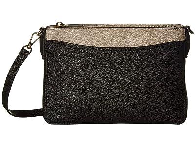 Kate Spade New York Margaux Medium Convertible Crossbody (Black/Warm Taupe) Handbags
