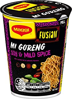 MAGGI Fusian Noodle Cup Mi Goreng Soy And Mild Spice, 64 Grams