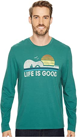Life is Good Camp Guitar Life Is Good® Long Sleeve Smooth Tee
