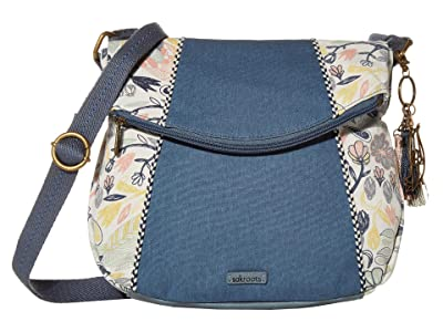 Sakroots Artist Circle Foldover Crossbody (Multi Peace Birds) Cross Body Handbags
