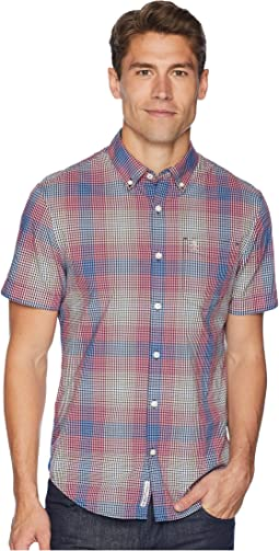 Short Sleeve Stretch Mini Plaid