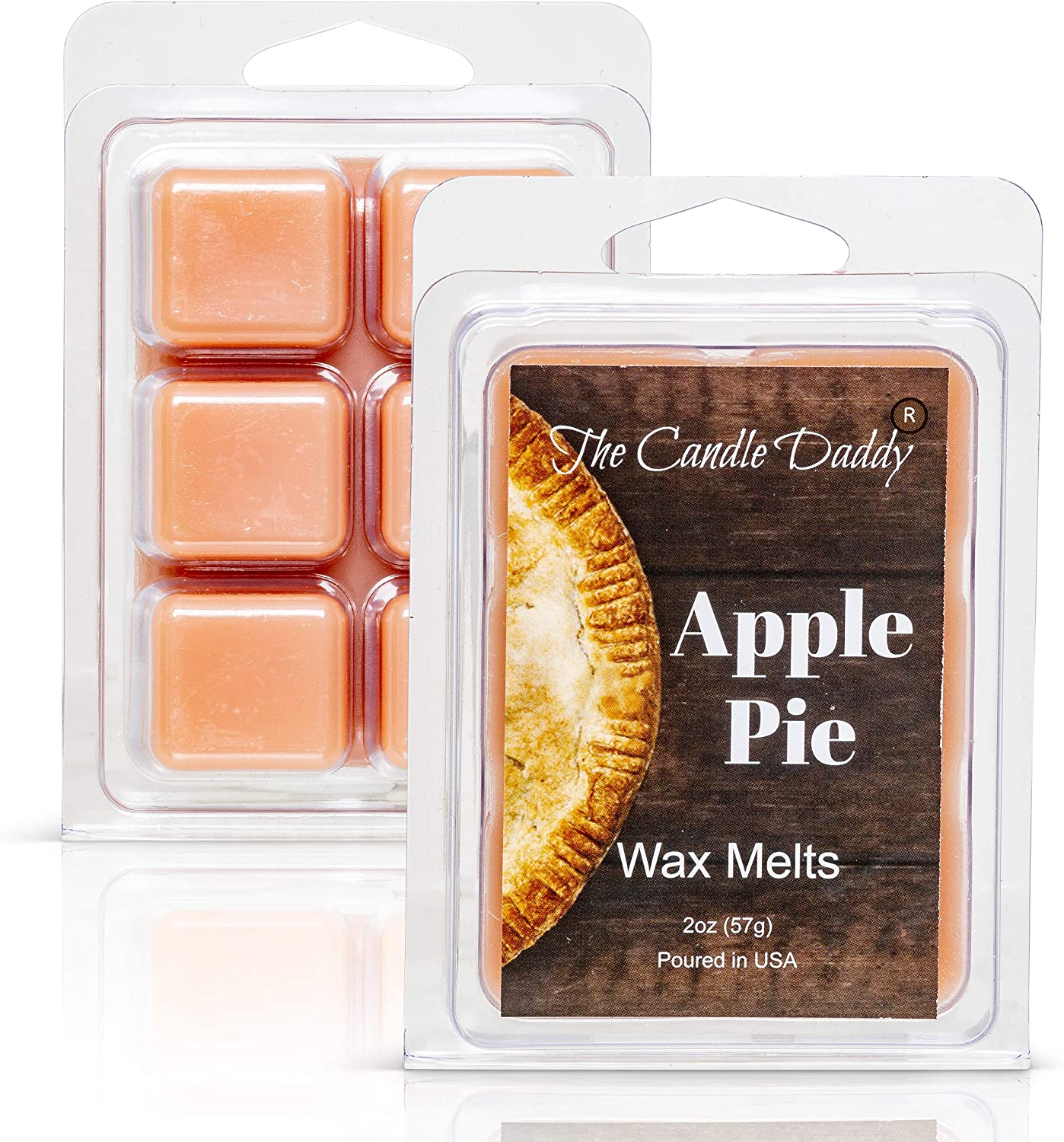 Apple Pie - Sweet American Freshly Baked Scented Melt- Maximum Scent Wax Cubes/Melts- 1 Pack -2 Ounces- 6 Cubes Gift for Women, Men, BFF, Friend, Wife, Mom, Birthday, Sister, Daughter, Long Lasting