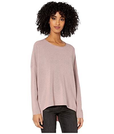Eileen Fisher Fine Merino Rib Crew Neck Box Top (Sugarplum) Women