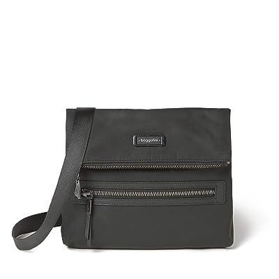 Baggallini City Lights Julie Slim Crossbody (Charcoal) Handbags