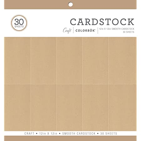 12-Inch x 12-Inch Pack of 1 Neutral Smooth Cardstock Paper Pad