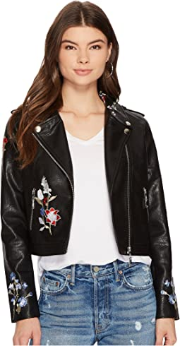 Bishop + Young - Embroidered Moto Jacket
