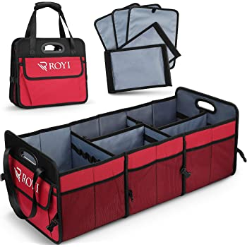 Smart Box for the Entire Familys Cargo Car and Truck Active Croco Car Trunk Organizer Collapsible Storage with Solid Lid Multi Compartments Ultimate Carrier for SUV