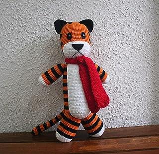 Hobbes Tiger 14'' Crochet Hobbes Hobbes Tiger Plush Tiger, Handmade Hobbes, Stuffed Hobbes