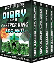 Diary of a Minecraft Creeper King BOX SET - 4 Book Collection 1: Unofficial Minecraft Books for Kids, Teens, & Nerds - Adv...