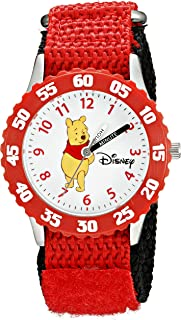 Disney Kids' W000099 Winnie the Pooh & Friends Stainless Steel Time Teacher Watch