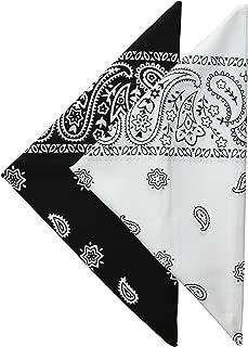 Levi's Men's 100% Cotton Multi-Purpose Bandana Gift Sets – Headband, Face Mask,Wrap, Black/White, One Size