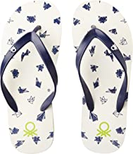 United Colors of Benetton Men's White Flip-Flops and House Slippers - 9 UK/India (43 EU) (16A8CFFPM509I)