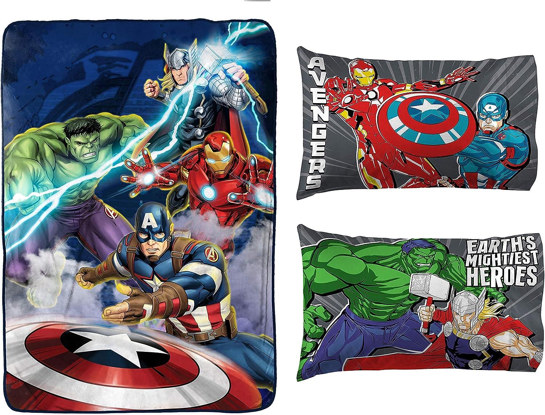Jay Franco Marvel 5 popular Avengers Blue 2-Piece Bundle-In Circle Large special price !! Blanket