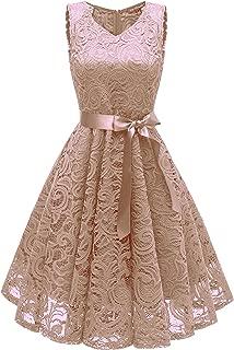 Avril Dress Princess Floral Lace Dress V-Neck A-line Bridesmaid Party Cocktail Prom Dress