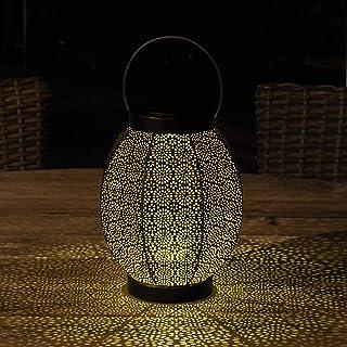 Gadgy Latarnia solarna z motywem kwiatowym, mała latarnia LED do użytku na zewnątrz, dekoracja tarasu, wodoszczelność IP6...