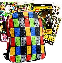 Lego Toddler Preschool Backpack Set - Bundle Includes 11 Inch Lego Mini Backpack, Lego Batman Stickers and More