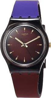 Swatch GB308 Purepurple Black & Purple Silicone Watch