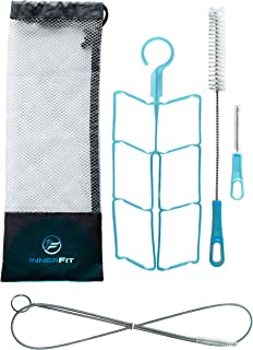 InnerFit Hydration Bladder Cleaning Kit - 5 in 1 Water Bladder Cleaning Kit for Universal Bladders - 3 Brushes - 1 Collapsible Frame - 1 Carrying Pouch