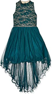 Speechless girls Mock Neck Sparkle Waist Party Dress Special Occasion Dress