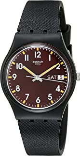 Swatch Unisex GB753 Originals Analog Display Swiss Quartz Black Watch