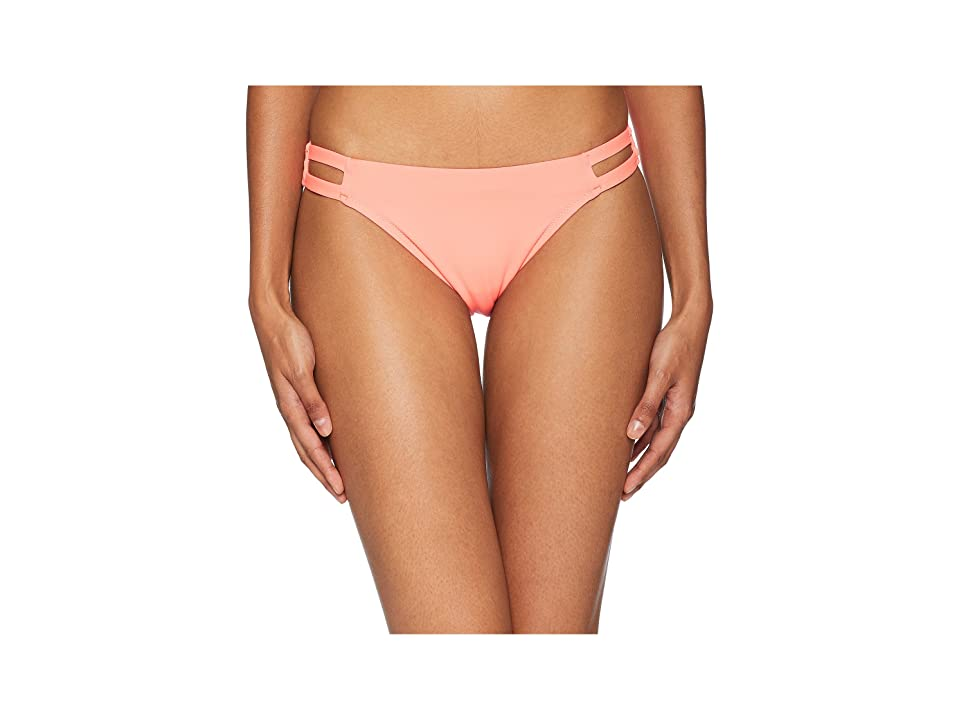 Letarte Medium Coverage Bottom with Cut Outs (Neon Coral) Women