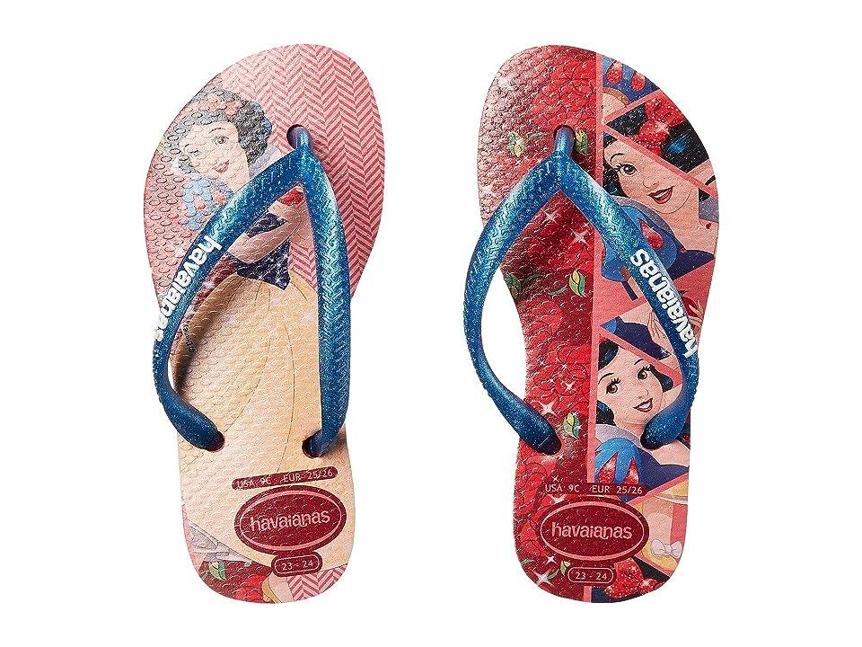 Havaianas Kids Slim Princess Flip Flops (Toddler/Little Kid/Big Kid) (Ruby Red) Girls Shoes