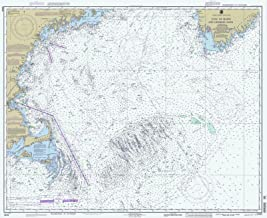 Map - Gulf Of Maine And Georges Bank, 1994 Nautical NOAA Chart - Maine, New Hampshire, Massachusetts (ME, NH, MA) - Vintage Wall Art - 44in x 36in