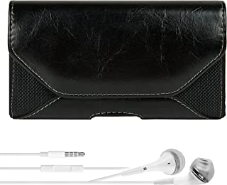 Old School Leather Hip Holster with Belt Clip, Loop 960 Plus VG Headphones Motorola RAZR HD RAZR MAXX XT910 Smartphone