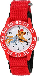Disney Boy's 'Lion Guard' Quartz Plastic and Nylon Watch, Color:Red (Model: W002650)
