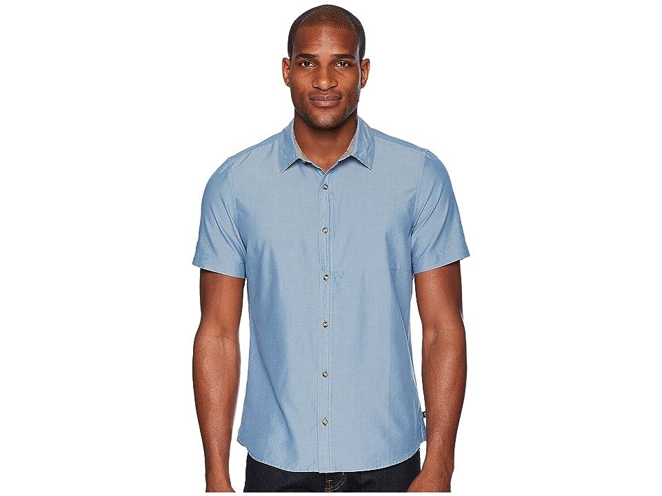 Toad&Co Cutler Short Sleeve Slim Shirt (Bright Indigo) Men