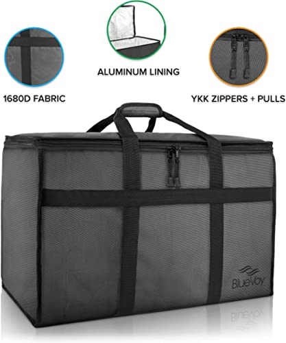 BlueVoy Insulated Food Delivery Bag – Premium Large Commercial Catering Bag for Food Transport - Hot and Cold Thermal...