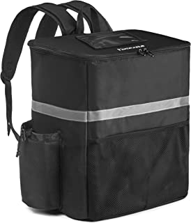 Homevative Thermal Insulated Food Delivery Backpack w/Cup Holders, Pocket and Receipt Window, Reusable Cooler Bag for Doordash, Uber, Postmates, Instacart, Camping, Beach, Groceries, Cooler Bag