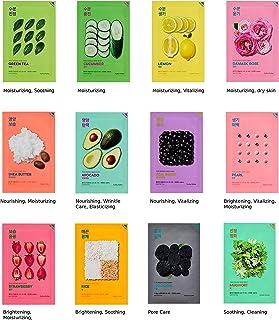 Holika Holika Pure Essence Mask Sheet Set 12 stuks 12 types Skin-Fit Daily Sheet Mask voor alle huidtypes